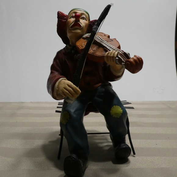 CLOWN porcelain music theme collection - violin